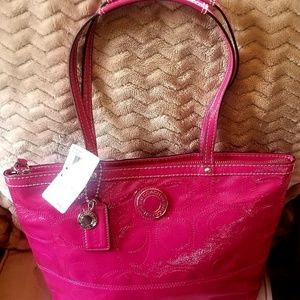 Brand new Coach signature leather tote